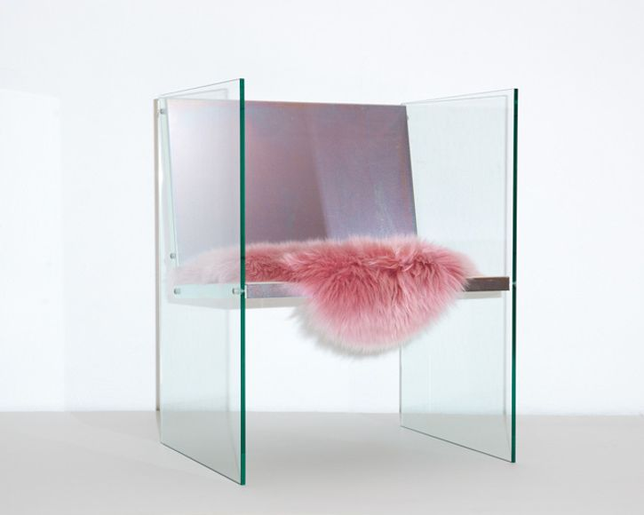 Fredrik Paulsen Glass Steel Chair
